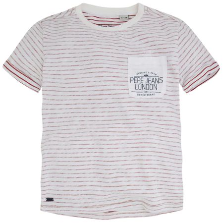 Pepe Jeans fantovska majica Tom 104 bela