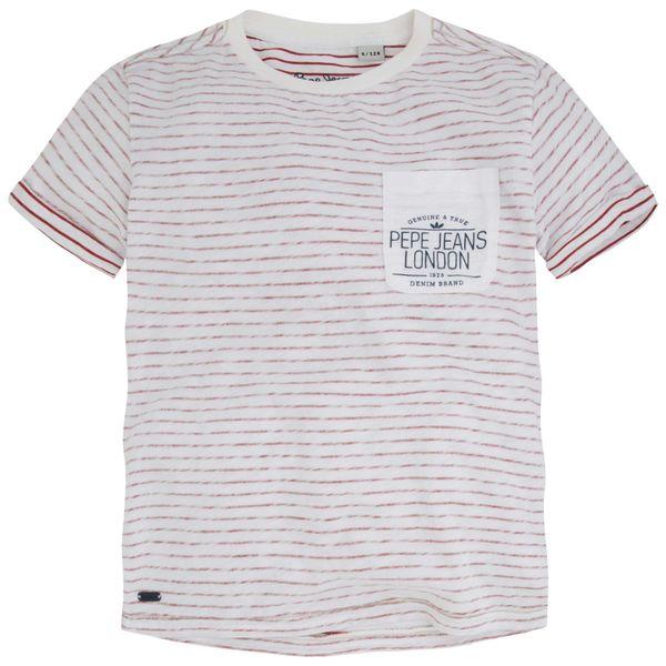 Pepe Jeans chlapecké tričko Tom 140 bílá