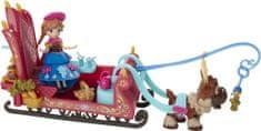 Disney Frozen mini lalka Anna, renifer i sanie