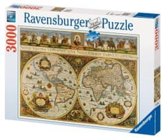 Ravensburger Historická mapa sveta 1665