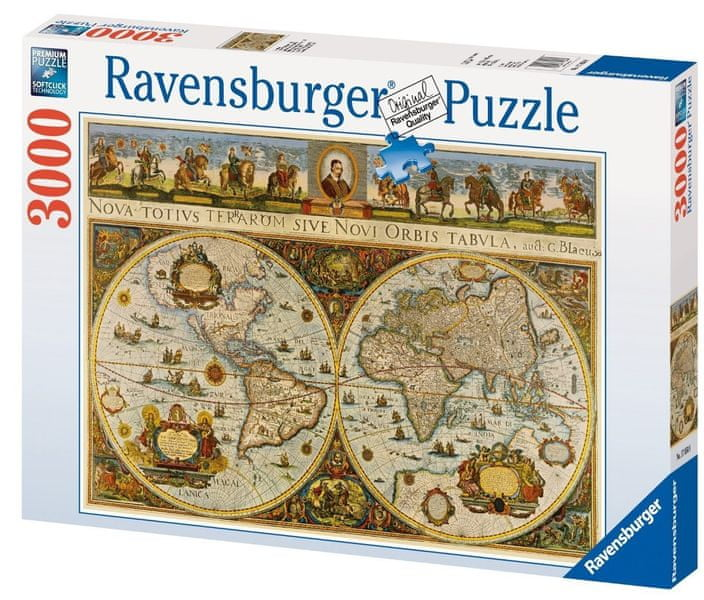 Ravensburger Historická mapa světa 1665