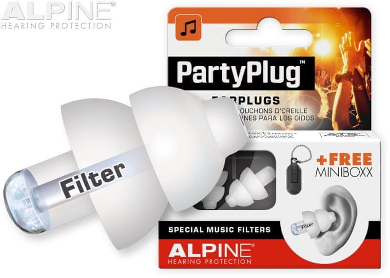 Alpine PartyPlug White Špunty do uší
