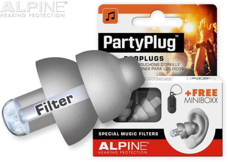 Alpine PartyPlug Silver Grey Špunty do uší
