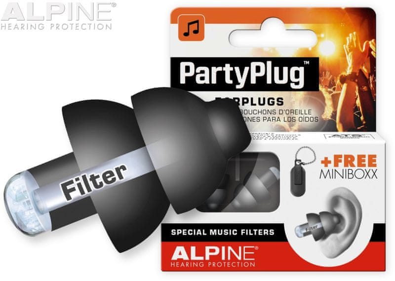 Alpine PartyPlug Black Špunty do uší