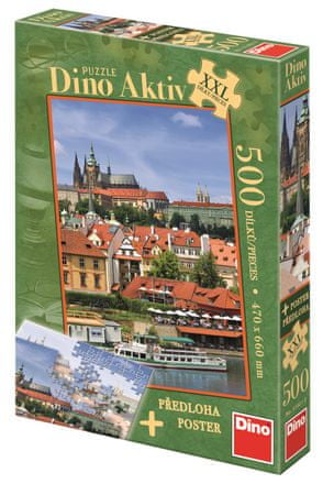 Dino Puzzle Pražský hrad XXL 500 dílků + Plakát
