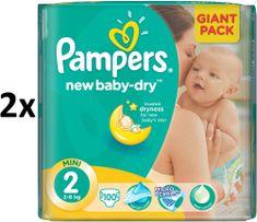 Pampers New Baby 2 Mini (3-6kg) Giant Pack - 200 ks