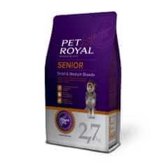 Pet Royal suha hrana za starejše pse Senior Small & Medium Breeds, s piščancem, 2,7 kg