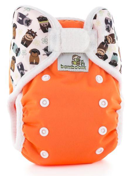 Bamboolik Svrchní kalhotky oranžová+zvířátka