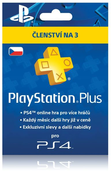 Sony PlayStation Plus 90 dní karta (CZE)