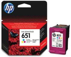 HP kartuša 651, barvna (C2P11AE)
