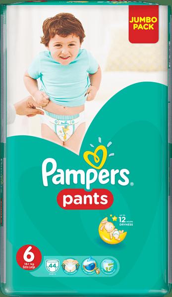 Pampers Plenky ActivePants 6 ExtraLarge Jumbo Pack 44 ks - II. jakost