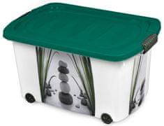 Jelenia Plast škatla za shranjevanje s kolesi Zen, 45 l