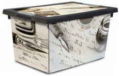 Jelenia Plast škatla za shranjevanje s kolesi Old Pen, 45 l