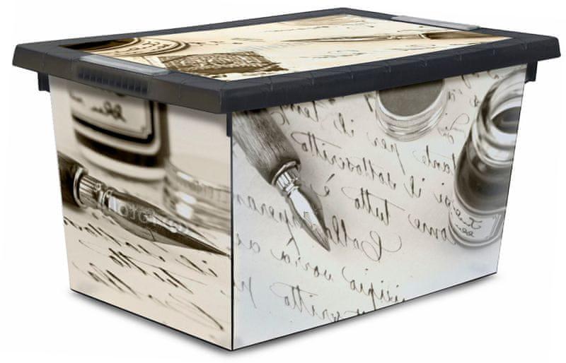 Jelenia Plast Úložný box s kolečky Old Pen 45 l