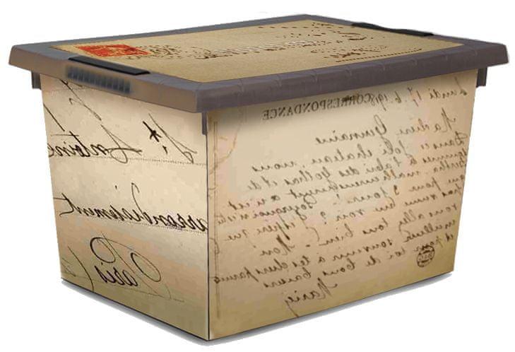 Jelenia Plast Úložný box s kolečky Old Letter 45 l