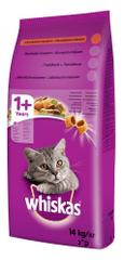 Whiskas Marhahúsos száraz macskaeledel, 14 kg