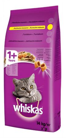 Whiskas Csirke + zöldség macskaeledel - 14 kg