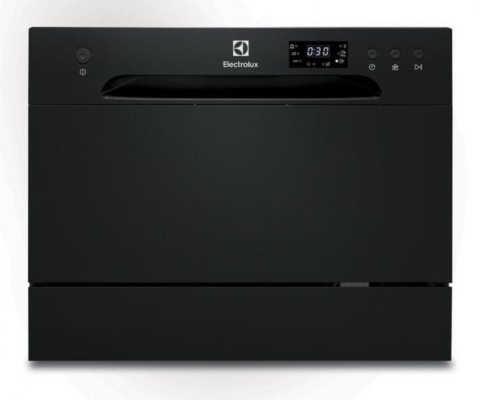 Namizni pomivalni stroj Electrolux v elegantni črni izvedbi