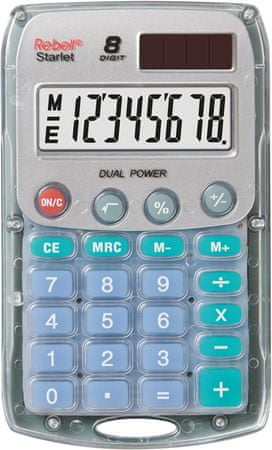 Rebell kalkulator Starlet BX, transparenten
