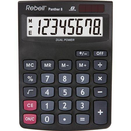 Rebell kalkulator SHC Panther 8, črn