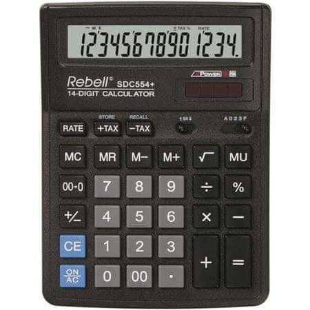 Rebell kalkulator SDC554+, črn