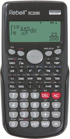 Rebell tehnični kalkulator SC2080, črn