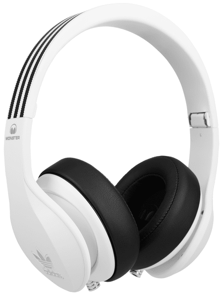 Monster adidas Originals Over-Ear, bílá