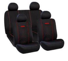 Momo International prevleke za sedež, črno-rdeče
