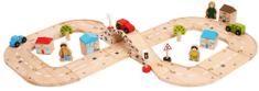 Bigjigs Rail Drewniany tor wyścigowy - ósemka