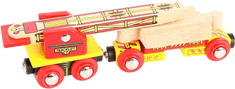 Bigjigs Rail Vagónek s jeřábem na koleje