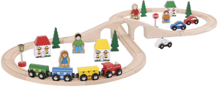 Bigjigs Rail Vláčikodráha - Osmička 40 dielov