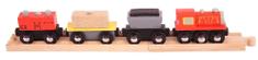Bigjigs Rail Pociąg towarowy + 2 szyny