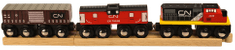 Bigjigs Rail CN nákladní vlak + koleje
