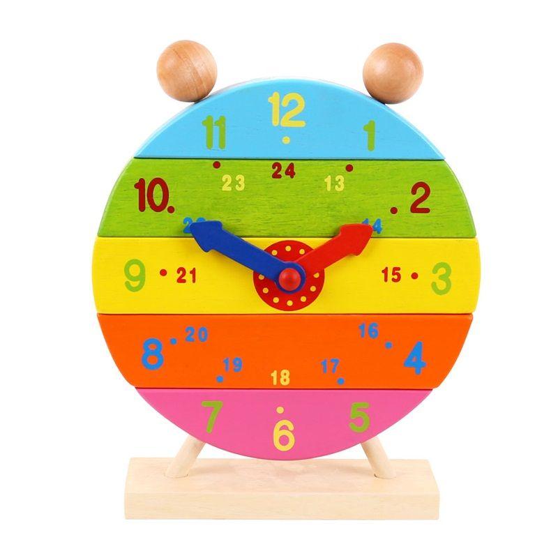 Bigjigs Toys Drevené nasadzovacie hodiny