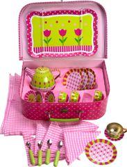 Bigjigs Toys Kytičkový čajový set v kufříku