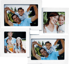 Postershop Fotorám - 4 okna, 10x15 a 11x11 cm, bílý