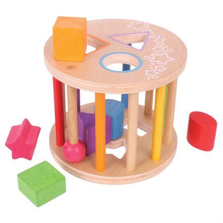 Bigjigs Toys Válec s tvary