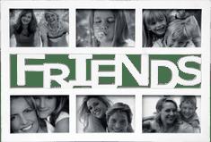 Postershop Fotorám - 6 oken, 10x15 cm, bílý Friends