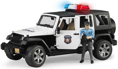Bruder policijski jeep Wrangler s policistom 02526