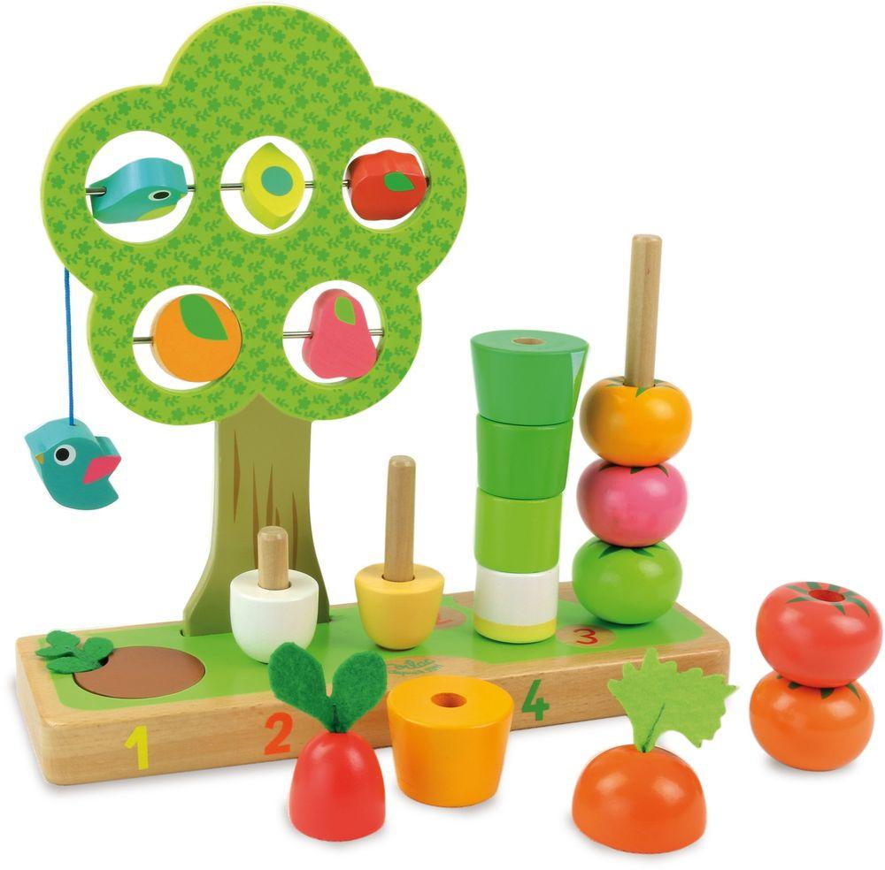 Vilac Dřevěné multifunkční hračky Zahrádka