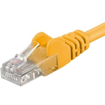 PremiumCord Patch UTP Kábel CAT6, 5m, Sárga