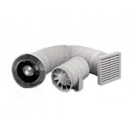 Zehnder Sprchový set 100mm, ventilátor, časovač, osvetlenie, transformátor, mriežky-biela + chrom ZSR100