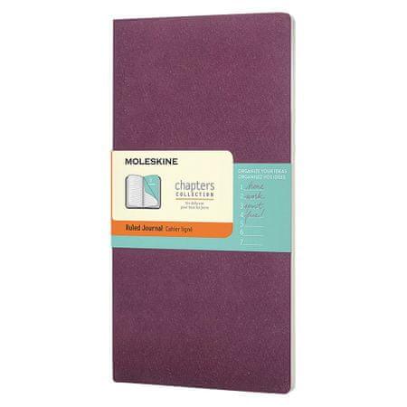 Moleskine beležka, črtasta, mehke platnice, vijolična