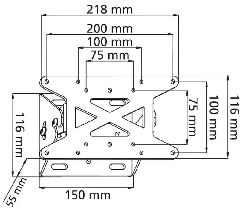 Stell SHO 1028 (sklopný držák)