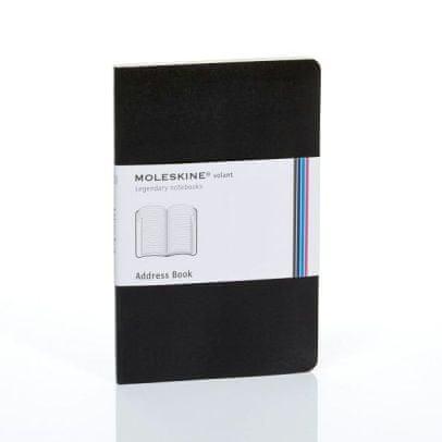 Moleskine žepni adresar, črtast, mehke platnice, črn