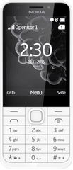 Nokia 230 Single SIM, bílá