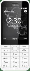 Nokia 230 Dual SIM Mobiltelefon, Fehér