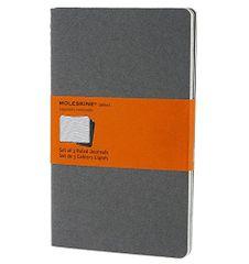 Moleskine beležk, črtasta, mehke platnice, siva