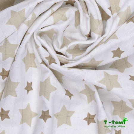 T-tomi Rożek bambusowy, beżowe gwiazdki