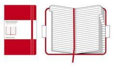 Moleskine žepni adresar, črtast, trde platnice, rdeč